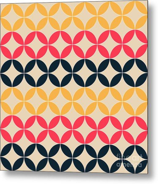 Abstract Geometric Artistic Pattern Metal Print