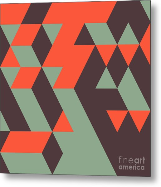 Abstract Geometrical 3d Background. Can Metal Print