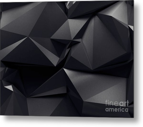 Abstract Graphite Crystal Background Metal Print