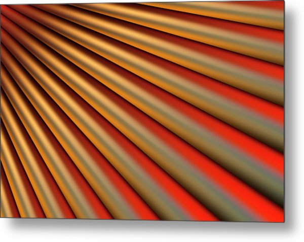 Abstract Line Pattern Metal Print by Ralf Hiemisch