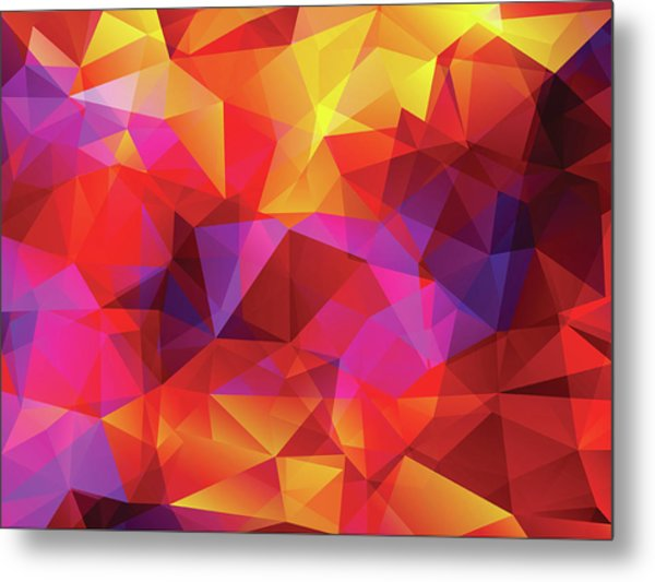 Abstract  Polygonal  Background Metal Print by Carduus