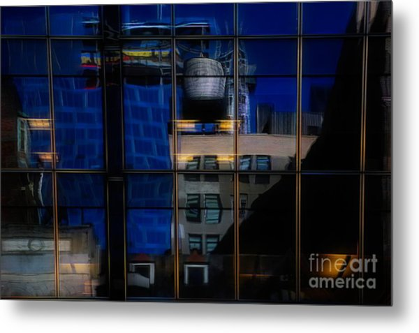 Abstract Reflection Nyc Architecture  Metal Print