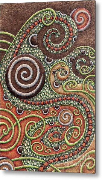 Abstract Spiral 10 Metal Print