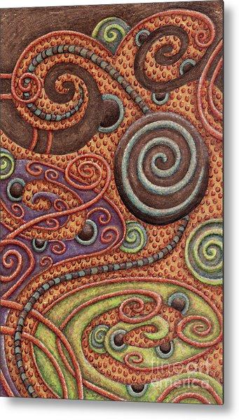 Abstract Spiral 5 Metal Print