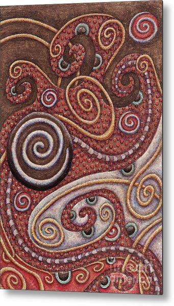 Abstract Spiral 6 Metal Print