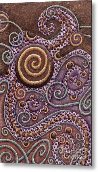 Abstract Spiral 8 Metal Print