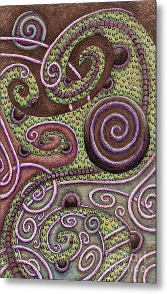 Abstract Spiral 9 Metal Print
