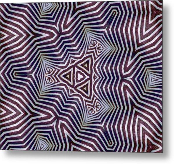 Abstract Zebra Design Metal Print