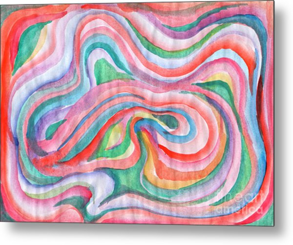Abstraction In Spring Colors Metal Print