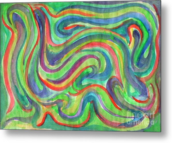 Abstraction In Summer Colors Metal Print