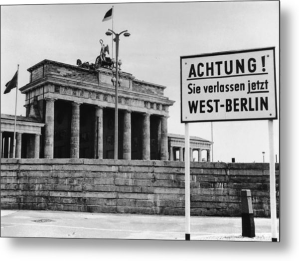 Achtung Metal Print by Central Press