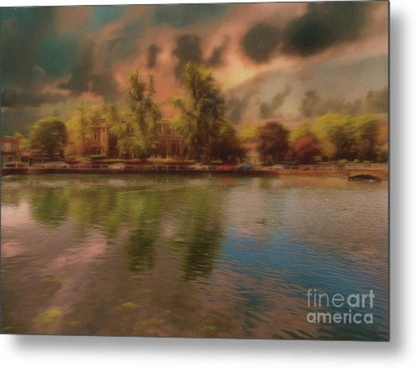 Metal Print featuring the photograph Across The Water by Leigh Kemp