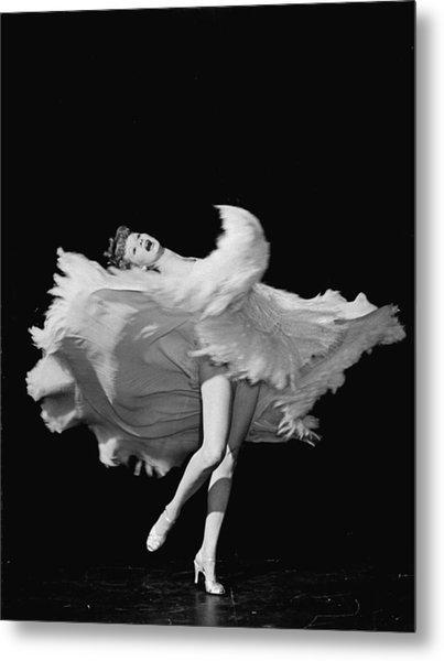Actress Lucille Ball Dancing In Scene Metal Print by John Florea