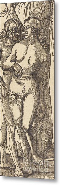 Adam And Eve, 1519 By Grien Metal Print