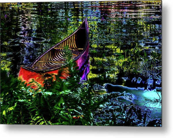 Metal Print featuring the photograph Adirondack Guide Boat by David Patterson
