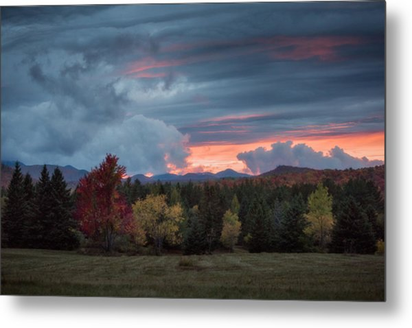 Adirondack Loj Road Sunset Metal Print