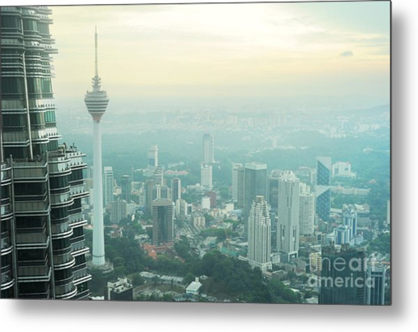 Aeial View Of Kuala Lumpur From Metal Print