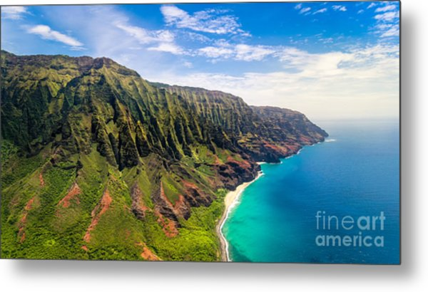 Aerial Landscape View Of Spectacular Na Metal Print