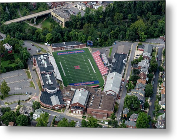 Aerial Of Mhs Football Field And School Metal Print