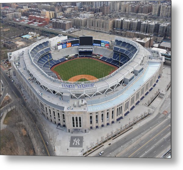 Aerial Photos Of The New Yankee Stadium Metal Print by New York Daily News Archive