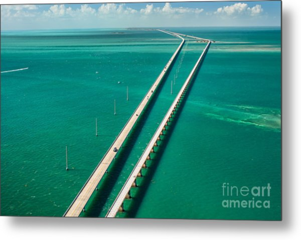 Aerial View Looking West Along The Metal Print