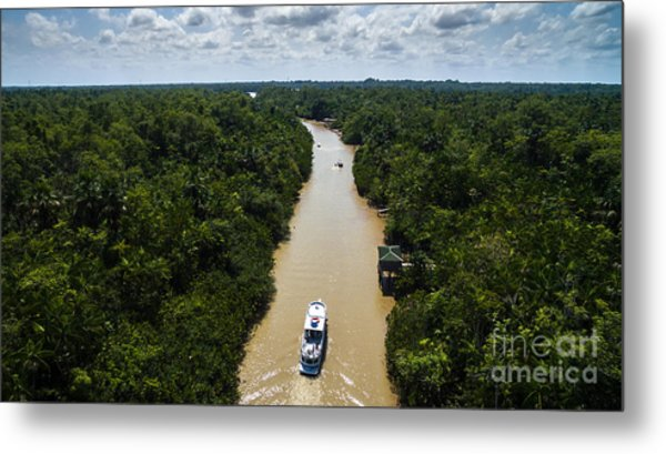 Aerial View Of Amazon River In Belem Do Metal Print