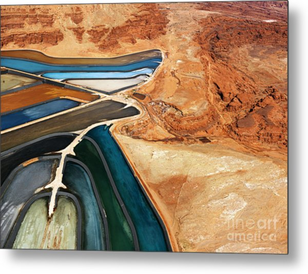 Aerial View Of An Arid, Craggy Metal Print