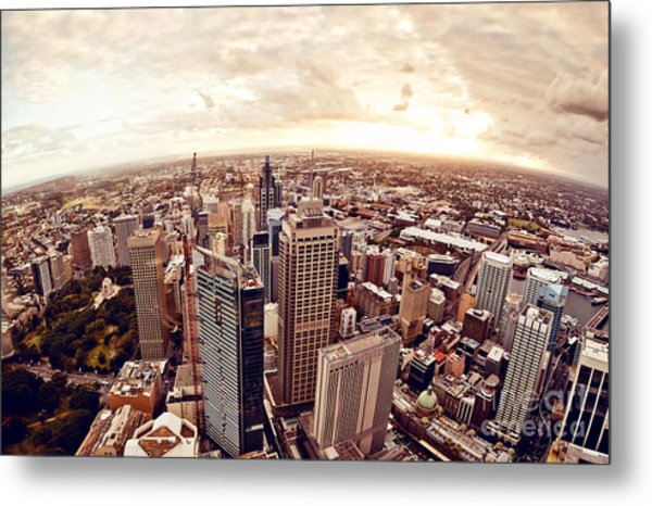 Aerial View Of Downtown Sydney At Metal Print