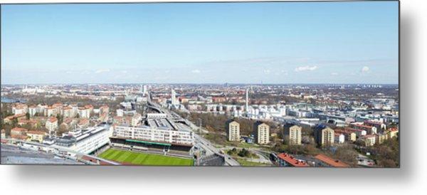 Aerial View Of Stadium Metal Print by Johner Images