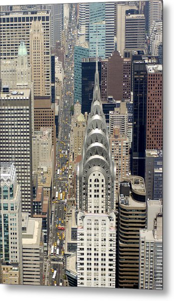 Aerial View Of The Chrysler Building In Metal Print