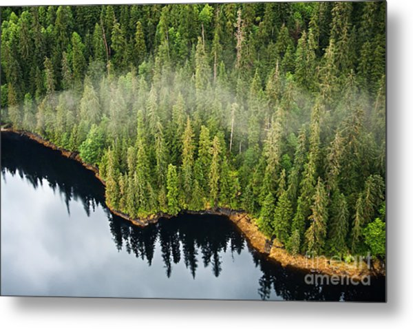 Aerial View Of The Mist Hanging In The Metal Print