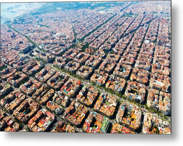 Aerial View Of Typical Houses At Metal Print