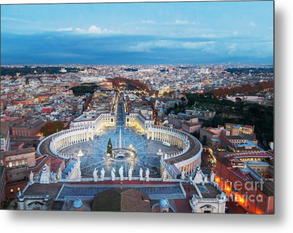 Aerial View On Rome, Italy. Evening Metal Print