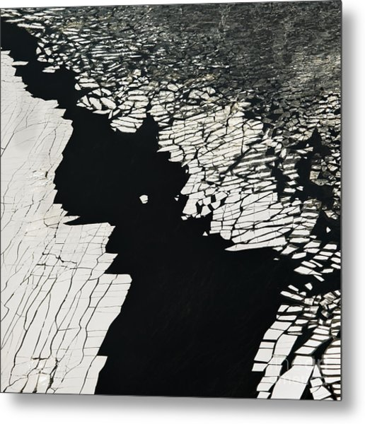 Aerial View Over The Surface Of River Metal Print