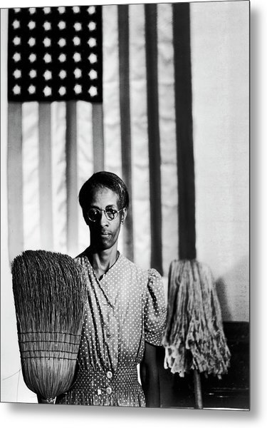 African American Cleaning Woman Ella Metal Print by Gordon Parks