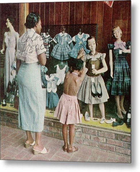 African American Ondria Thornton Window Metal Print
