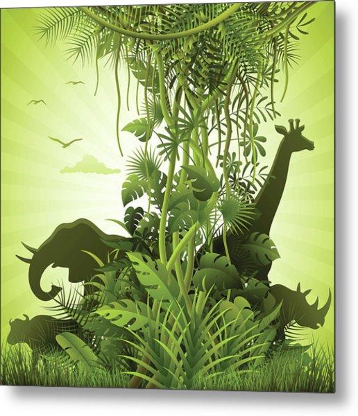 African Savannah Metal Print by Alonzodesign