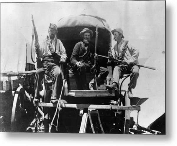 Afrikaners On Wagon Metal Print by Henry Guttmann Collection