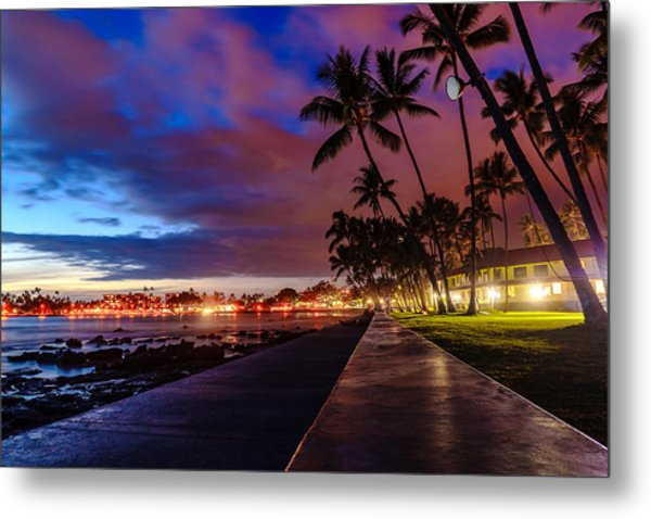 After Sunset At Kona Inn Metal Print