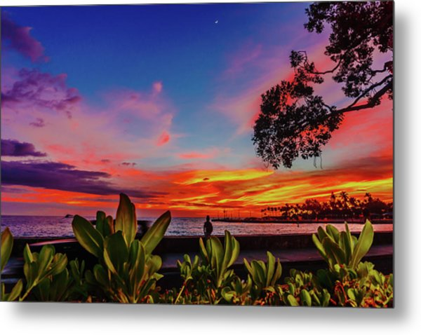 After Sunset Colors Metal Print