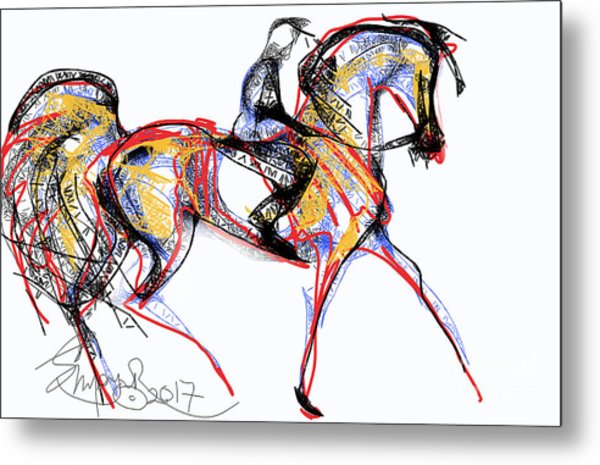 After The Derby Metal Print