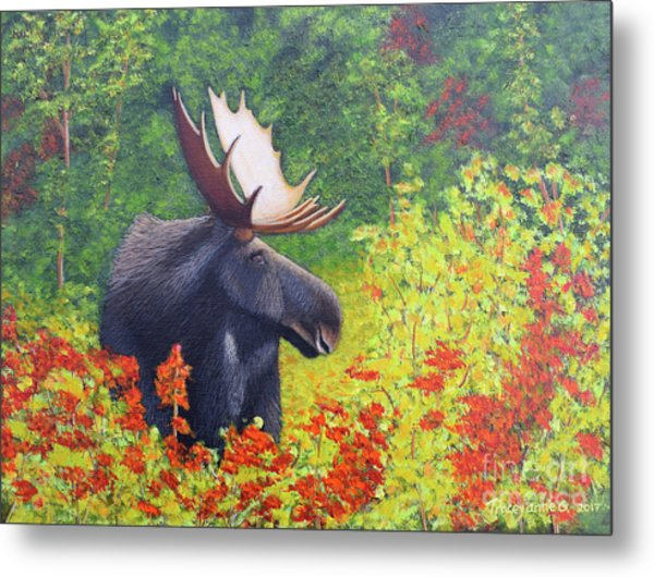 Afternoon Munch Metal Print