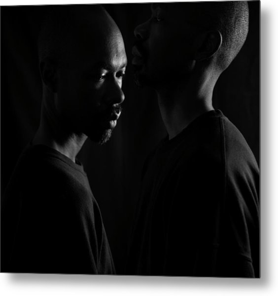 Metal Print featuring the photograph Against The Wall by Eric Christopher Jackson