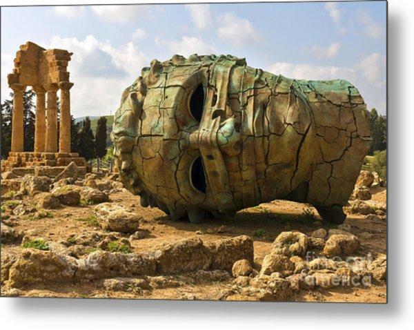 Agrigento, Sicily. Famous Valle Dei Metal Print