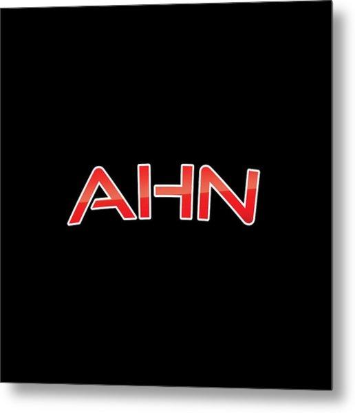 Ahn Metal Print