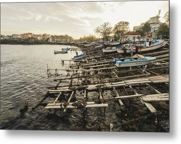 Ahtopol Fishing Town Metal Print