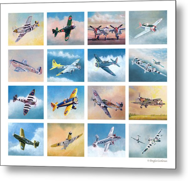 Airplane Poster Metal Print
