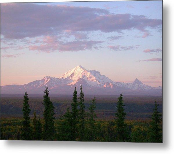 Metal Print featuring the photograph Alaska Mountain Sunset by Mark Duehmig