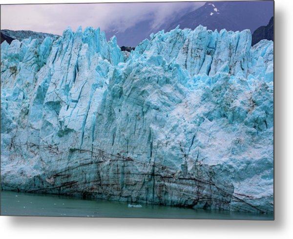 Alaskan Blue Glacier Ice Metal Print