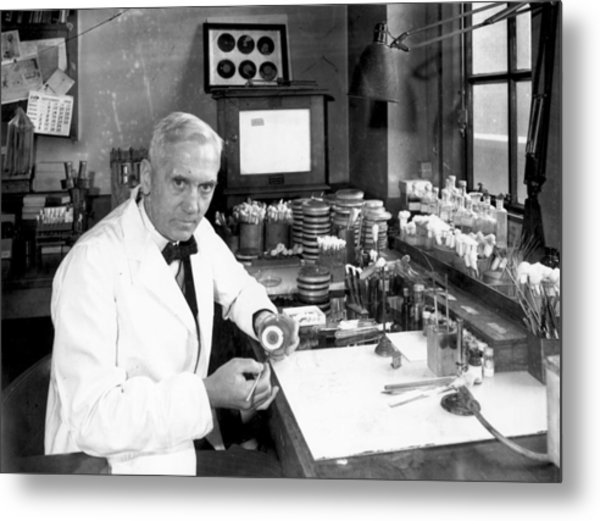 Alexander Fleming Metal Print by Davies